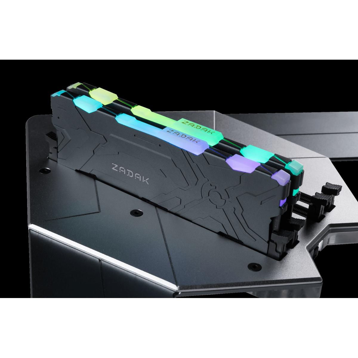 Memória DDR4 Zadak MOAB, RGB, 8GB, 3200MHz, ZD4-MO132C28-08GYG1