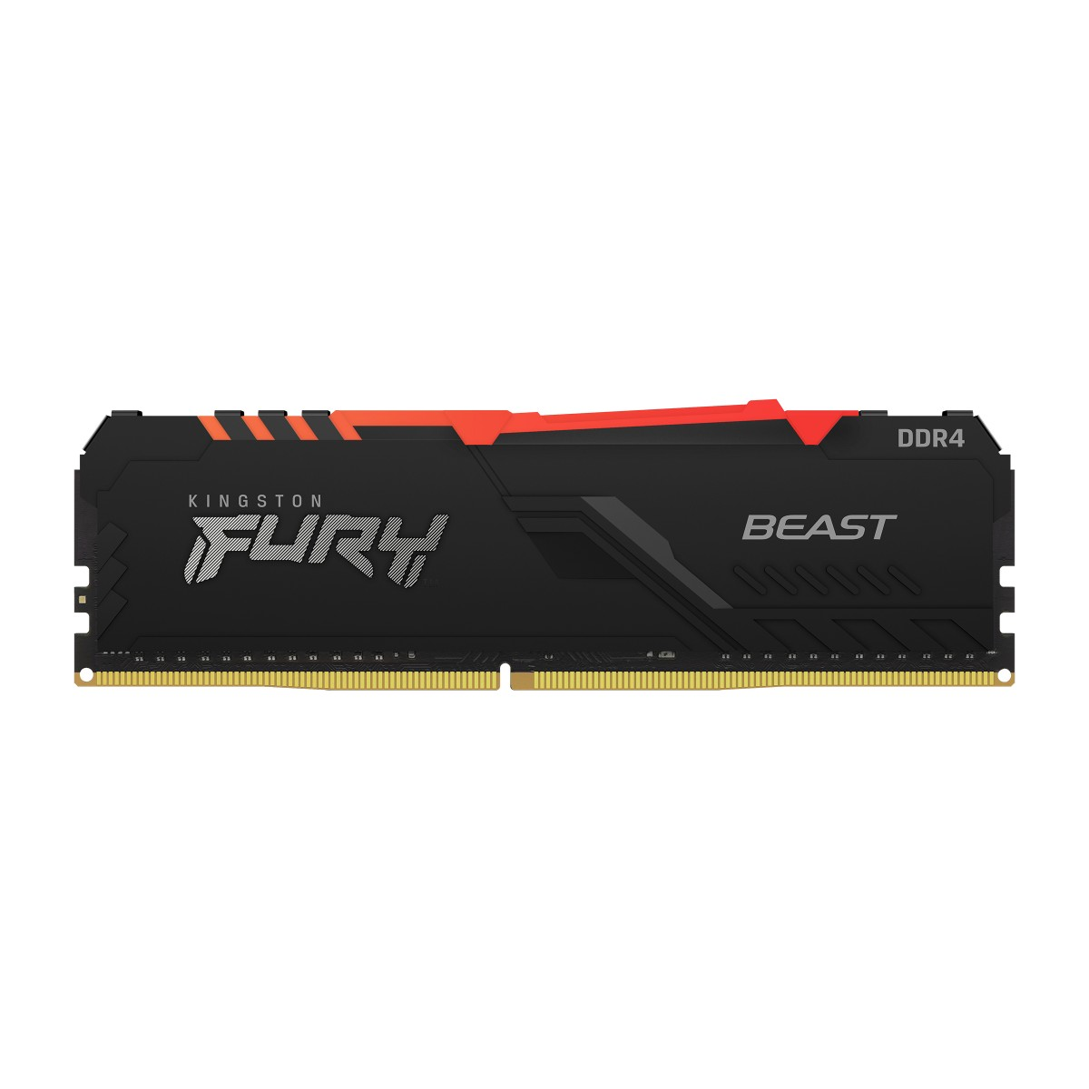 Memória Kingston Fury Beast RGB, 16GB,(2x8GB), 3000Mhz, DDR4, CL15, Preto, KF430C15BBAK2/16
