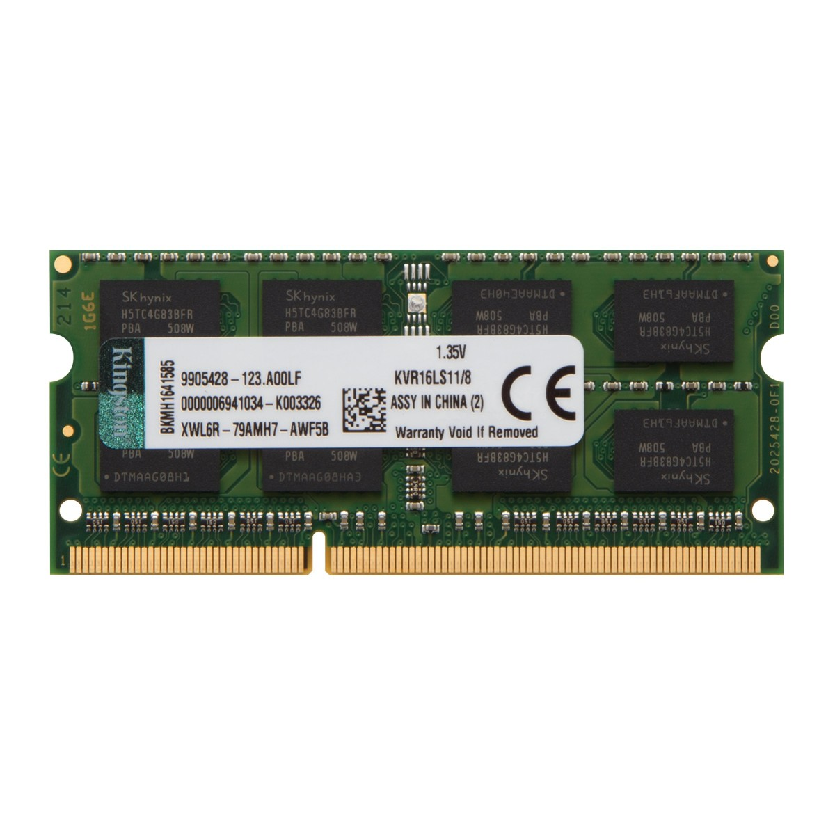 Memória para Notebook DDR3 Kingston, 8GB 1600Mhz, KVR16N11/8