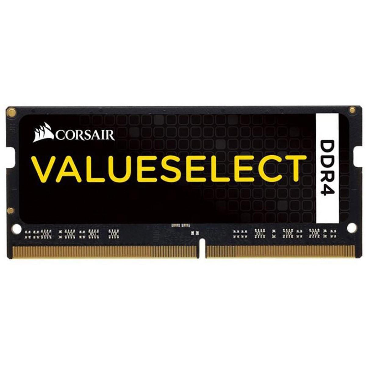 Memória para Notebook DDR4 Corsair Value Select, 4GB 2133MHz, CMSO4GX4M1A2133C15