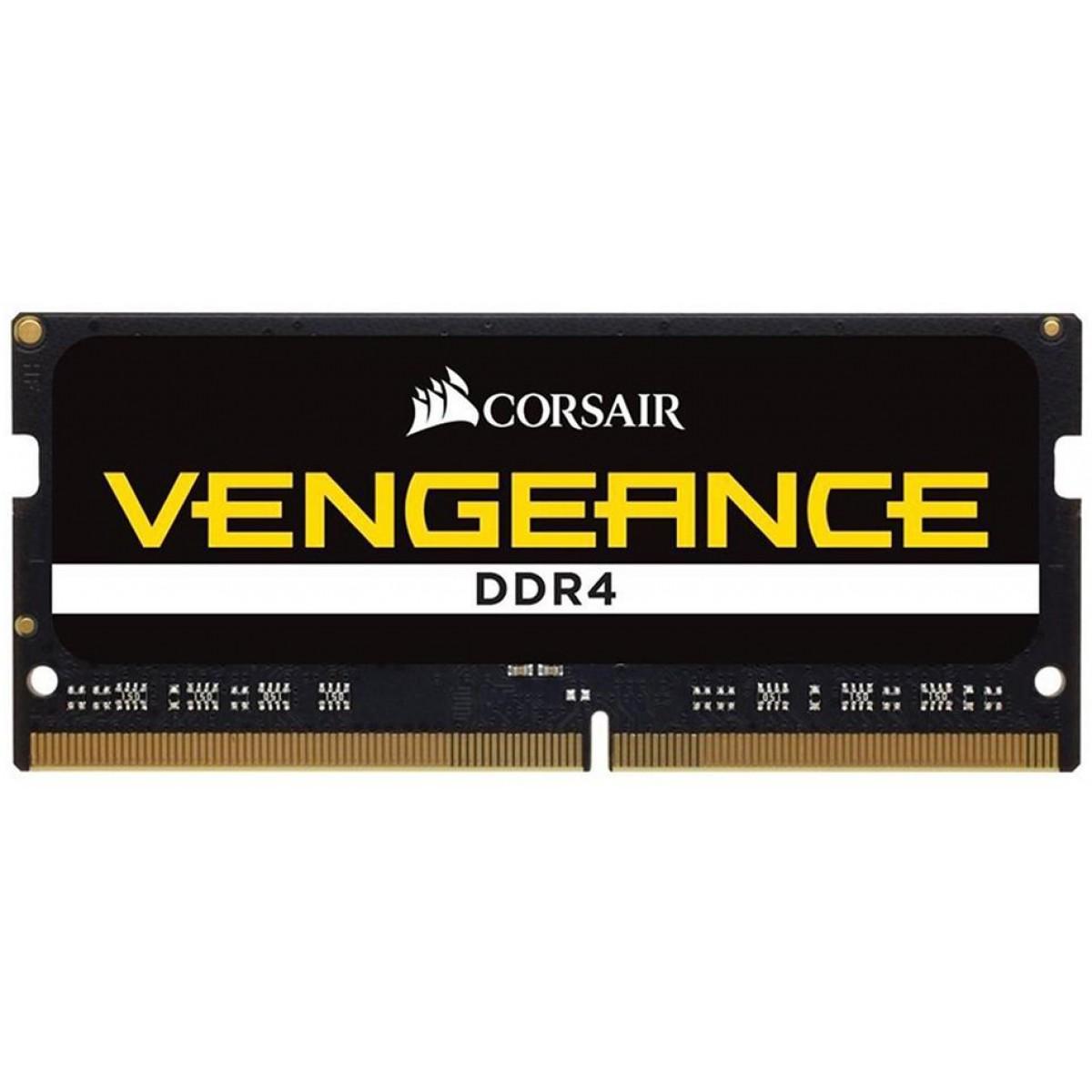 Memória para Notebook DDR4 Corsair Vengeance, 8GB 2400MHz, CMSX8GX4M1A2400C16