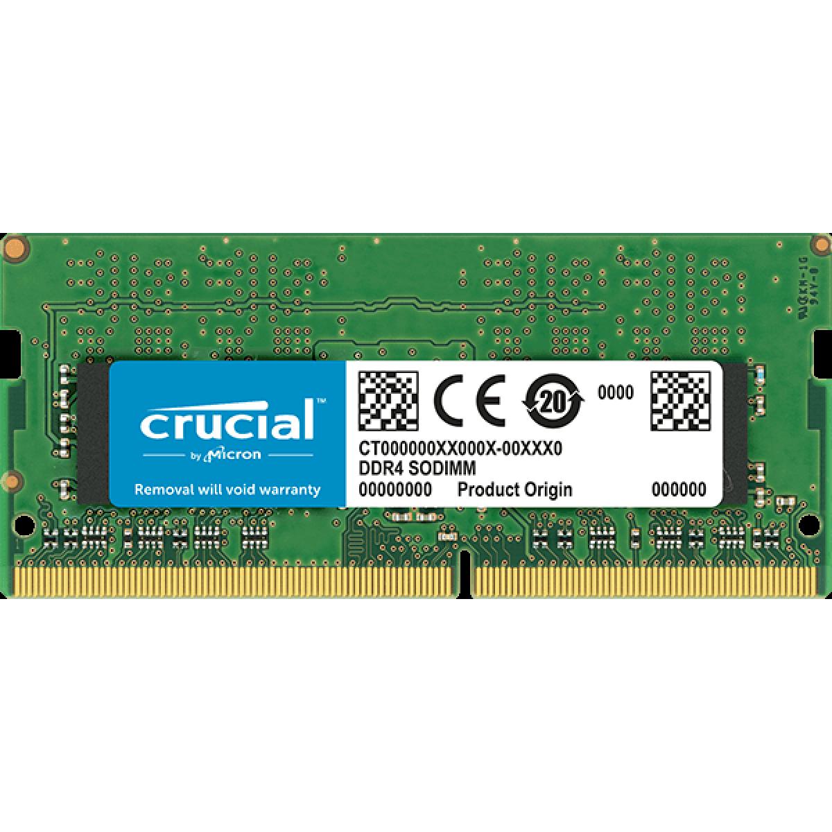 Memória para Notebook DDR4 Crucial, 4GB 2666MHz, CT4G4SFS8266
