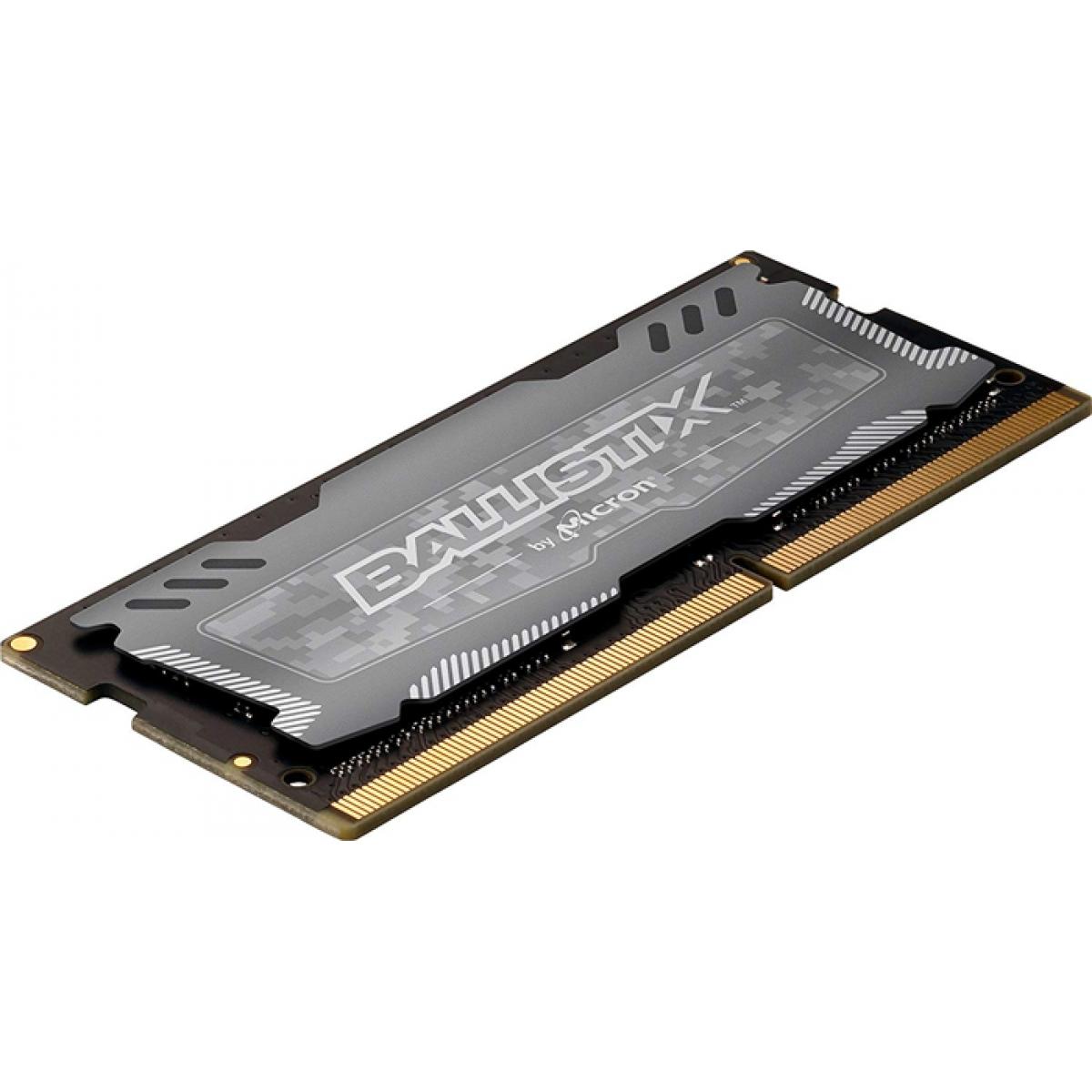 Memória para Notebook DDR4 Crucial Ballistix Sport LT, 8GB 2400MHz, BLS8G4S240FSDK