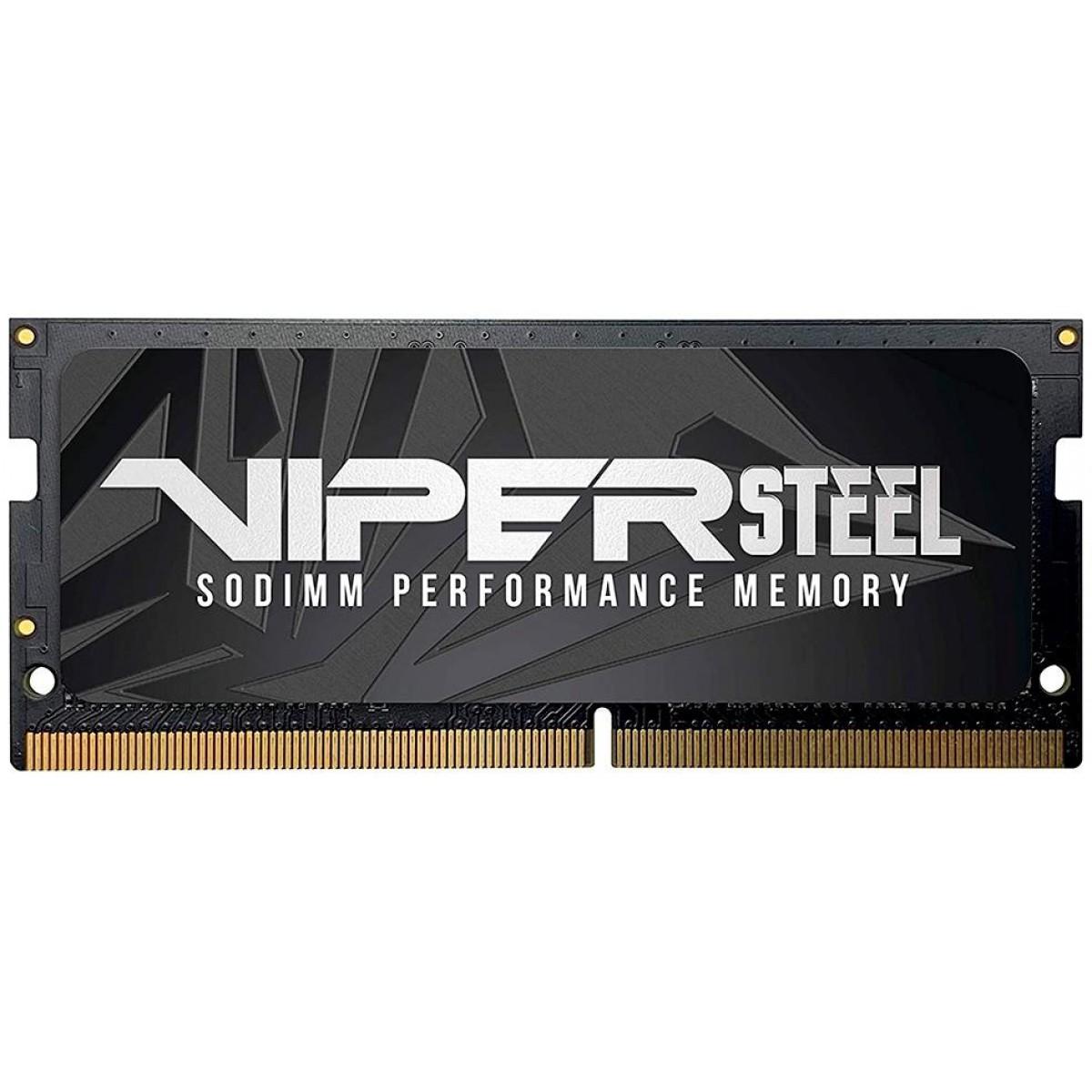 Memória para Notebook DDR4 Patriot Viper Steel, 8GB 2666MHz, PVS48G266C8S