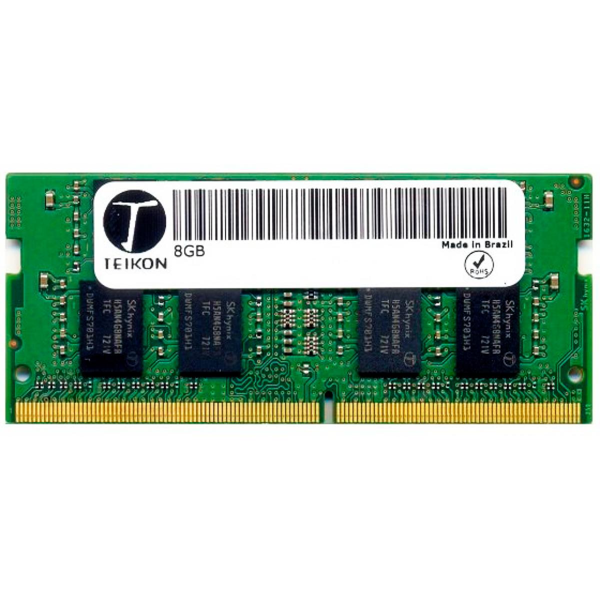 Memória para Notebook DDR4 Teikon, 8GB 2400MHz, TMA81GS6AFR8N-UHSC