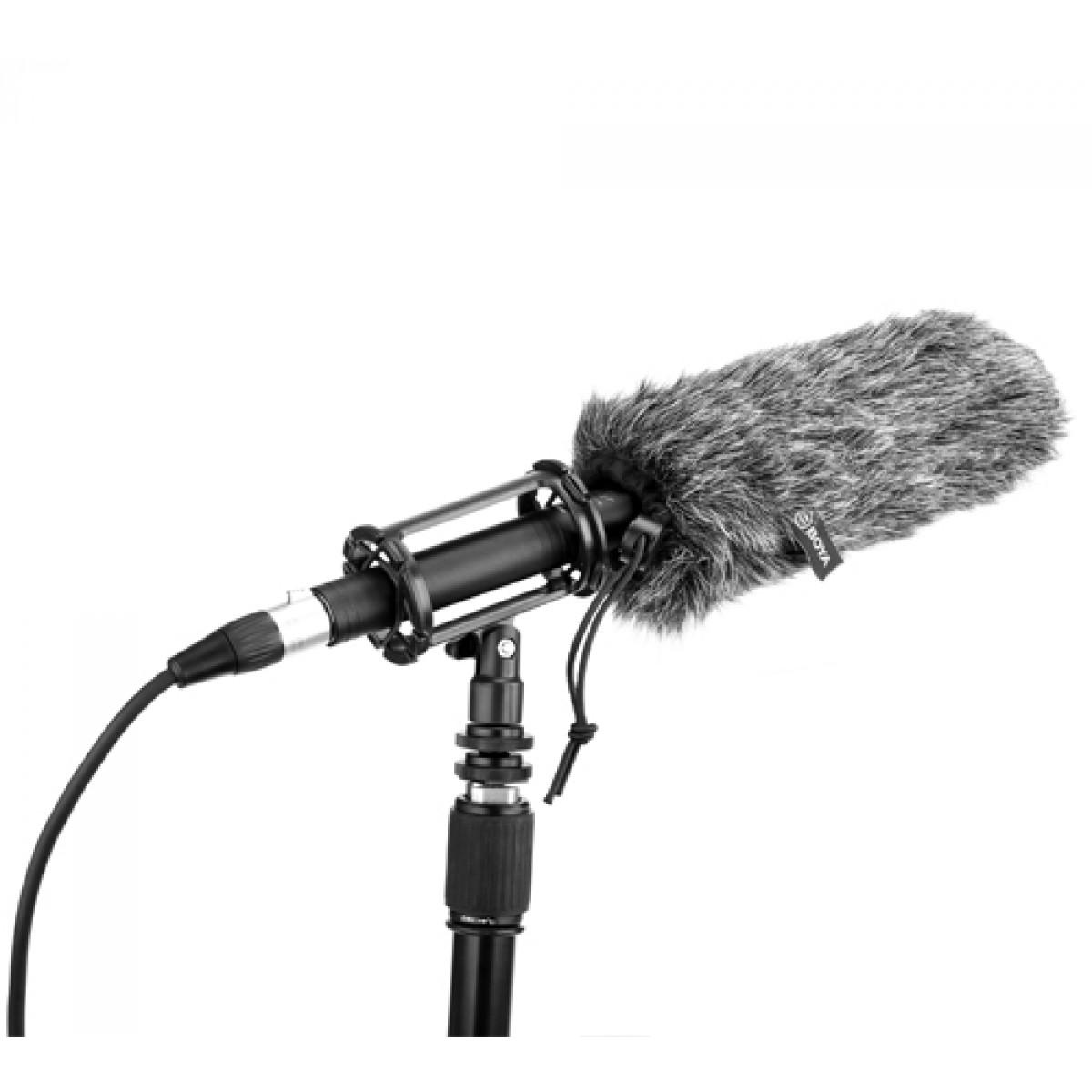 Microfone BOYA BY-BM6060, Cardióide, XLR, Black