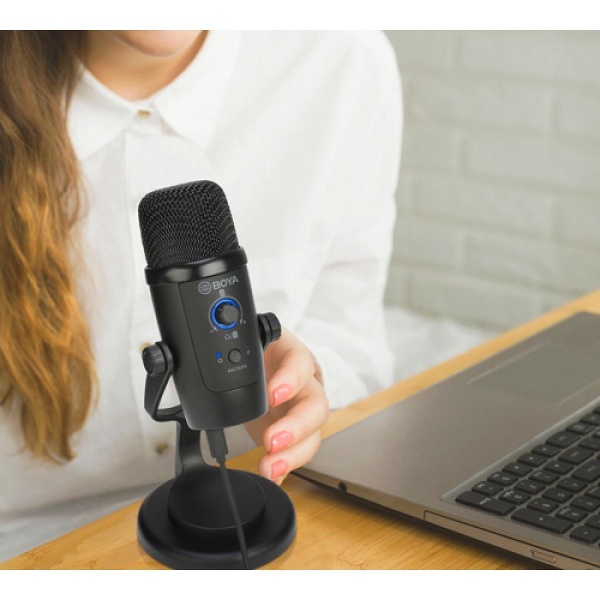 Microfone BOYA BY-PM500, USB, Com Suporte, Black