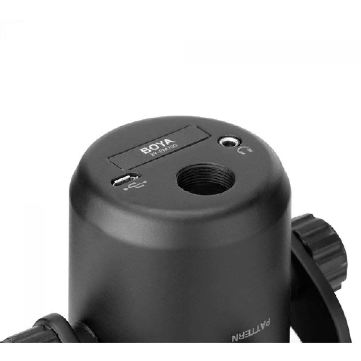Microfone BOYA BY-PM700, USB, Com Suporte, Black