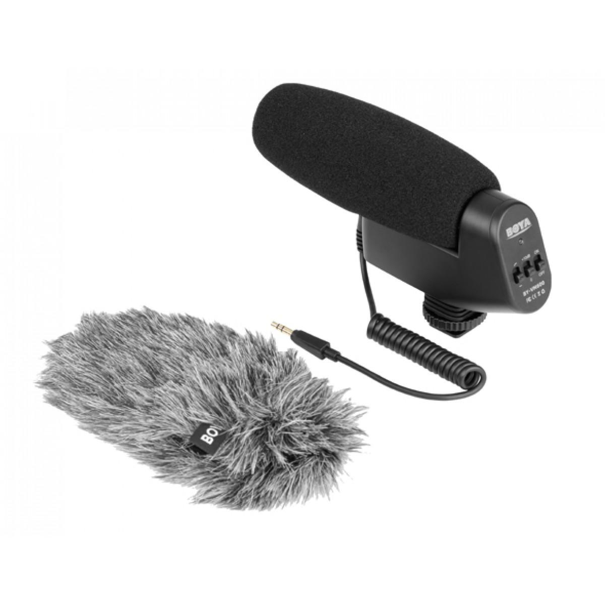Microfone de Câmera BOYA BY-VM600, TRS, Black