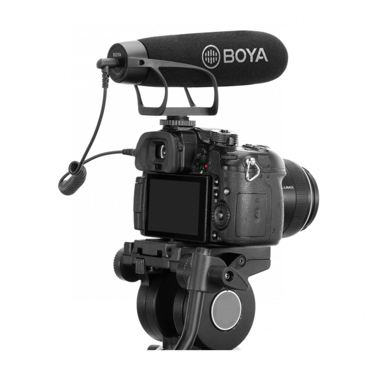 Microfone de Vídeo BOYA BY-BM2021, TRS/TRRS, Black