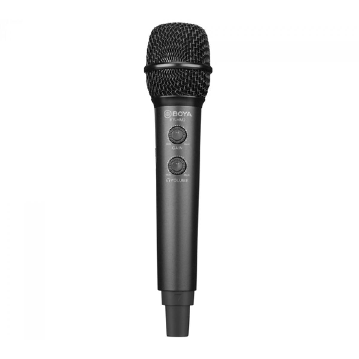 Microfone Digital BOYA BY-HM2, Com Tripé, USB Tipo C, Tipo A e Lighting, Black