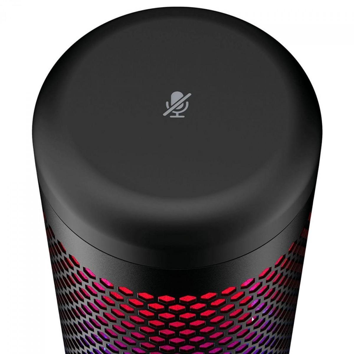 Microfone HyperX QuadCast S, USB, LED RGB, HMIQ1S-XX-RG/G
