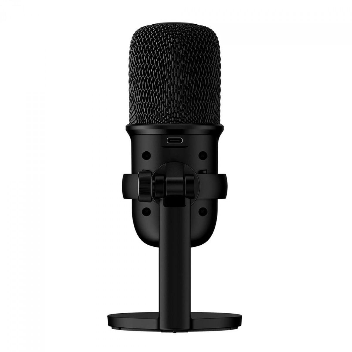 Microfone HyperX Solocast, USB, Compatível PS4, Mac, PC, HMIS1X-XX-BK/G