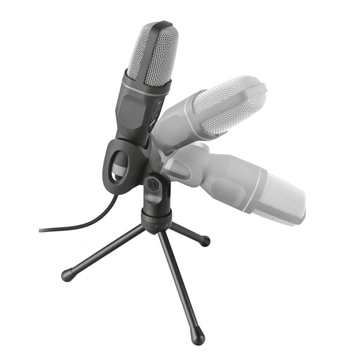 Microfone Streaming Trust, USB, Voxa