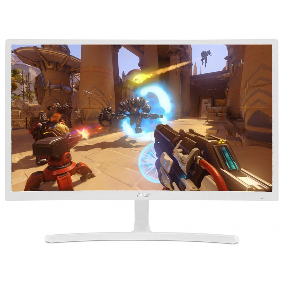 Monitor Gamer Acer Curvo 23.6 Pol, Full HD, AMD FreeSync, White, ED242QR