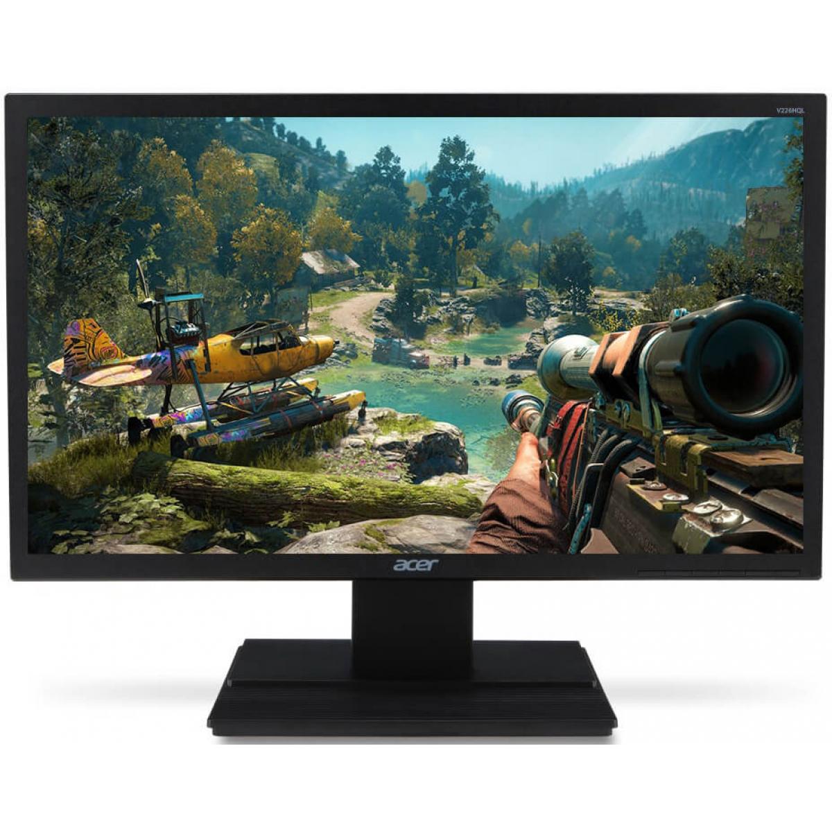 Monitor Gamer Acer 19.5 Pol, HD, 60Hz, 5ms, V206HQLHDMI