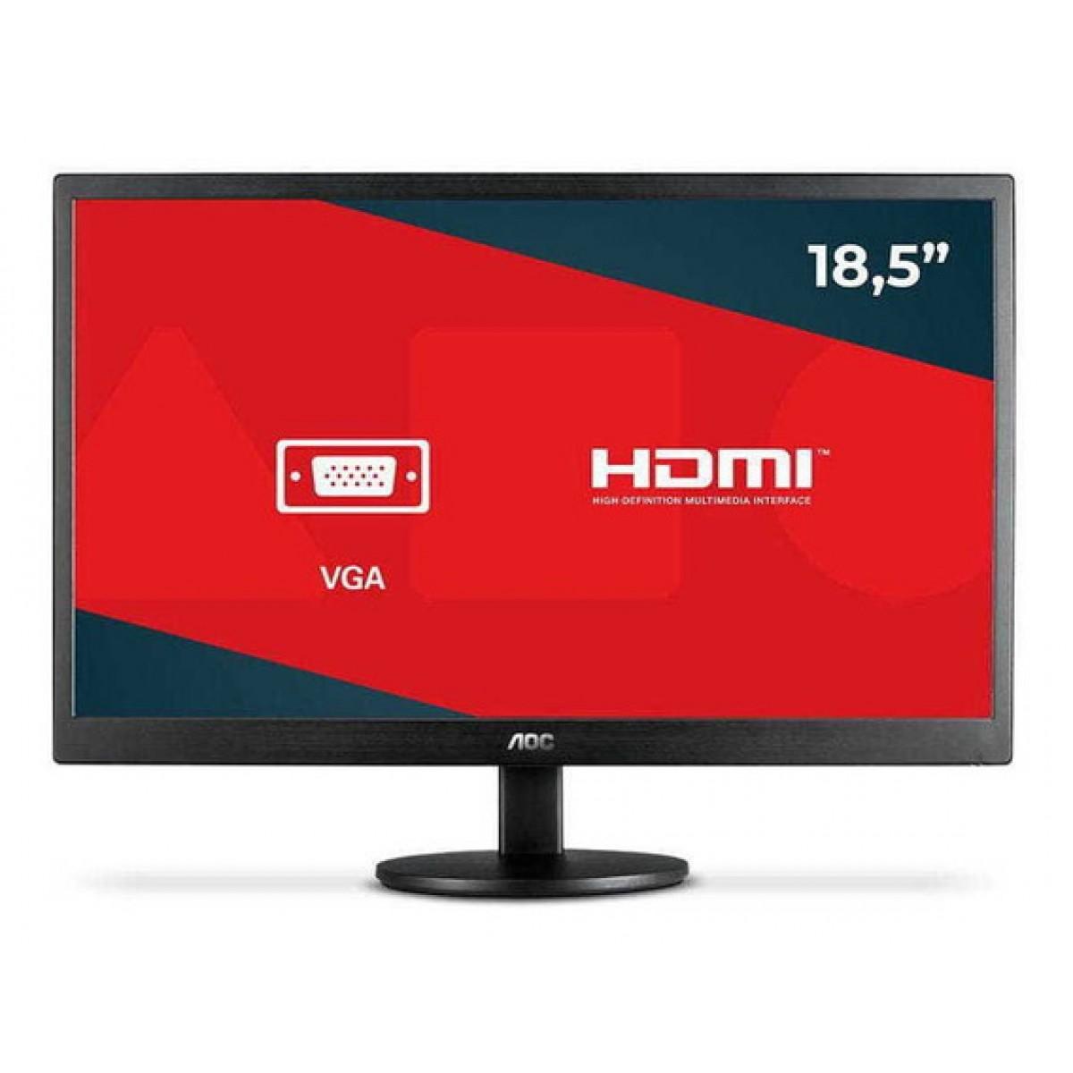 Monitor AOC 18.5 Pol, HD, VGA, HDMI, E970SWHNL