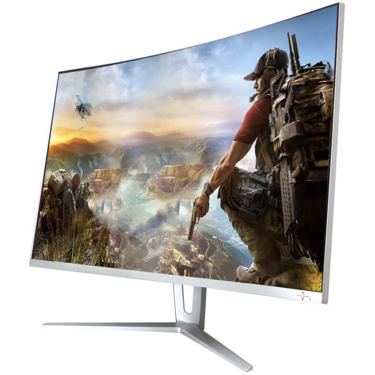 Monitor Gamer GameMax 27 Pol Curvo, Full HD, 144Hz, 1ms, White, GMX27C144