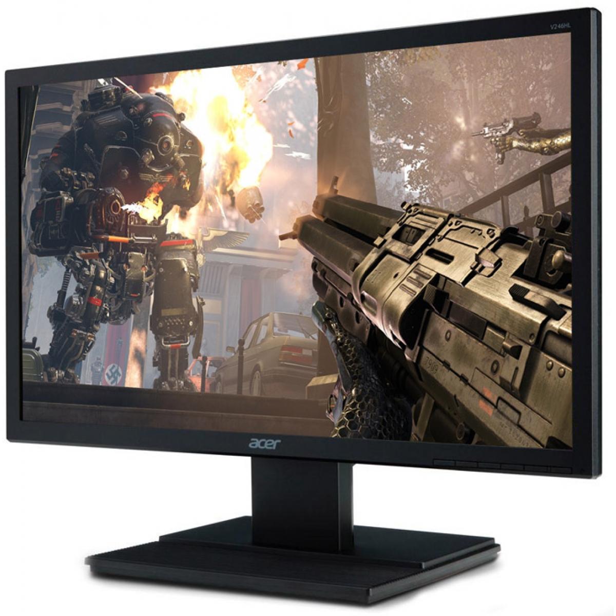 Monitor Gamer Acer 23.6 Pol, Full HD, HDMI-VGA, V246HL