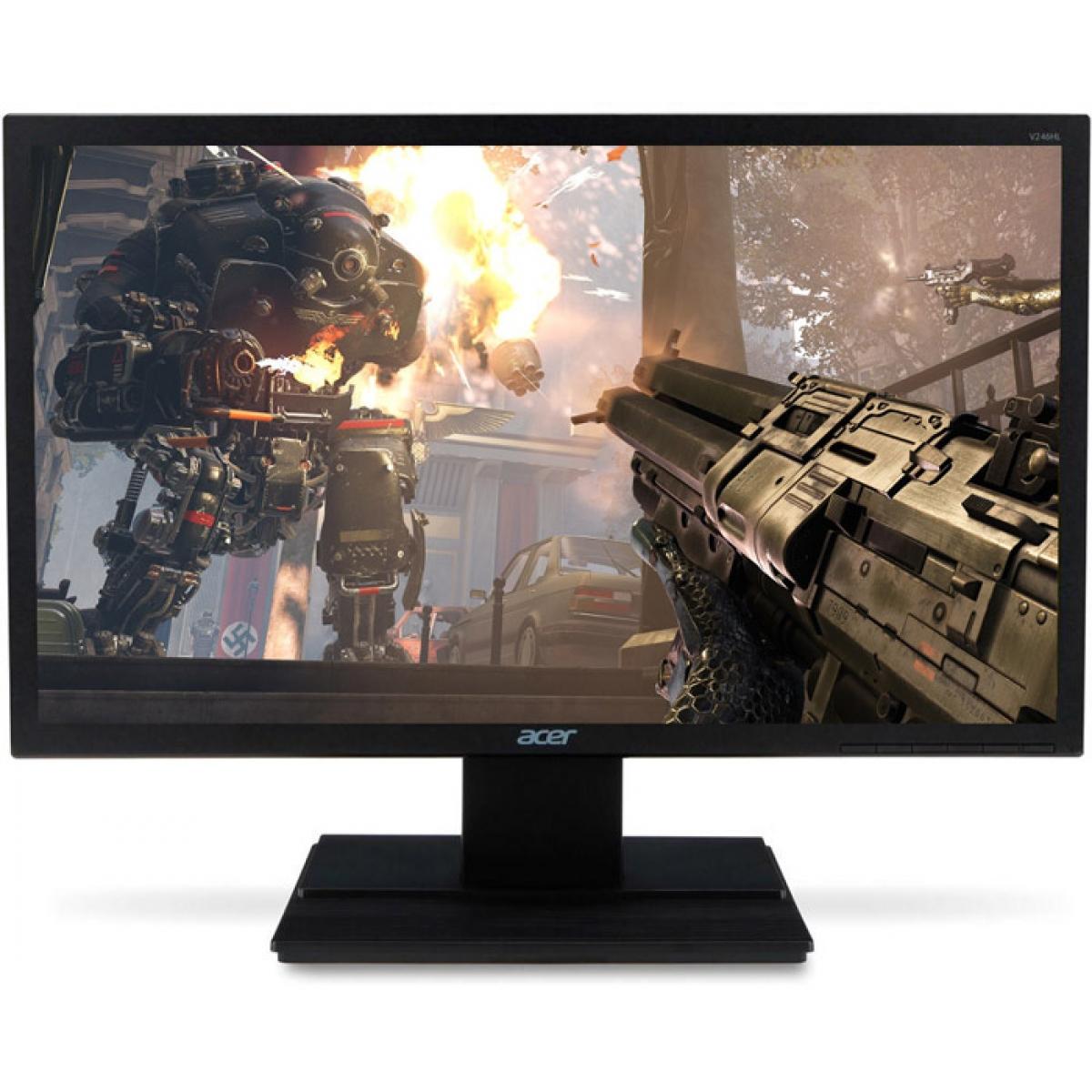 Monitor Gamer Acer 23.6 Pol, Full HD, 60Hz, 5ms, V246HL