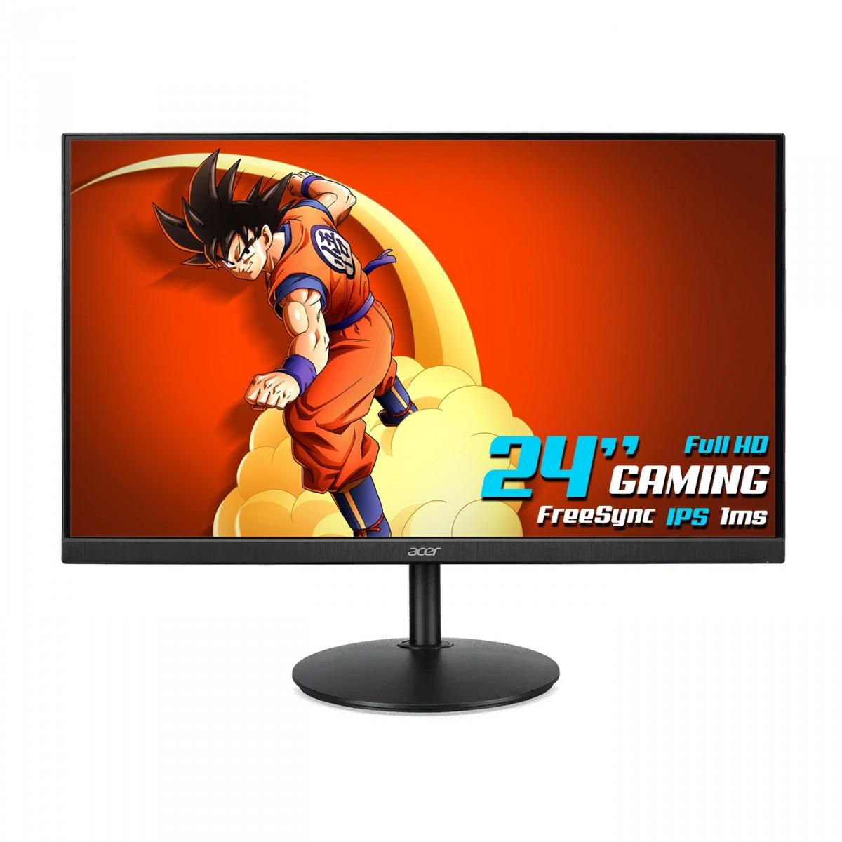 Monitor Gamer Acer, CB242Y BMIPRX, 24 Pol, IPS, Full HD, FreeSync, 1ms, HDMI, VGA, DP, CB242Y