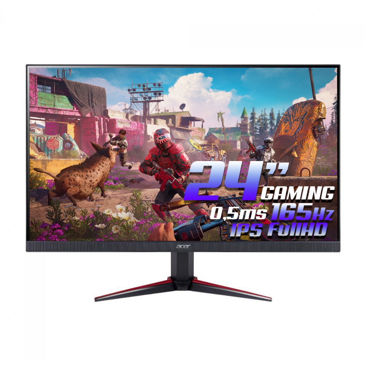 Monitor Gamer Acer Nitro, 24 Pol, FullHD, 165Hz, DP/HDMI, VG240Y