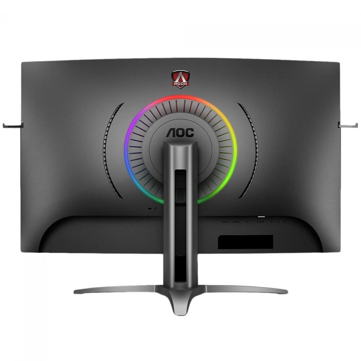 Monitor Gamer AOC, AGON, 31.5´, Widescreen Curvo, Full HD, RGB, HDMI, DisplayPort, FreeSync, 165Hz, 1ms - AG323FCXE