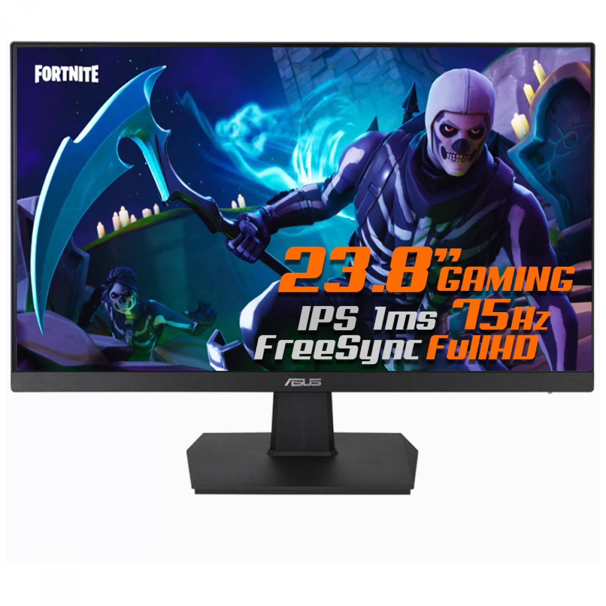 Monitor Gamer Asus Eye Care 23,8 Pol, Widescreen, Full HD, FreeSync, HDMI, IPS, VA24EHE