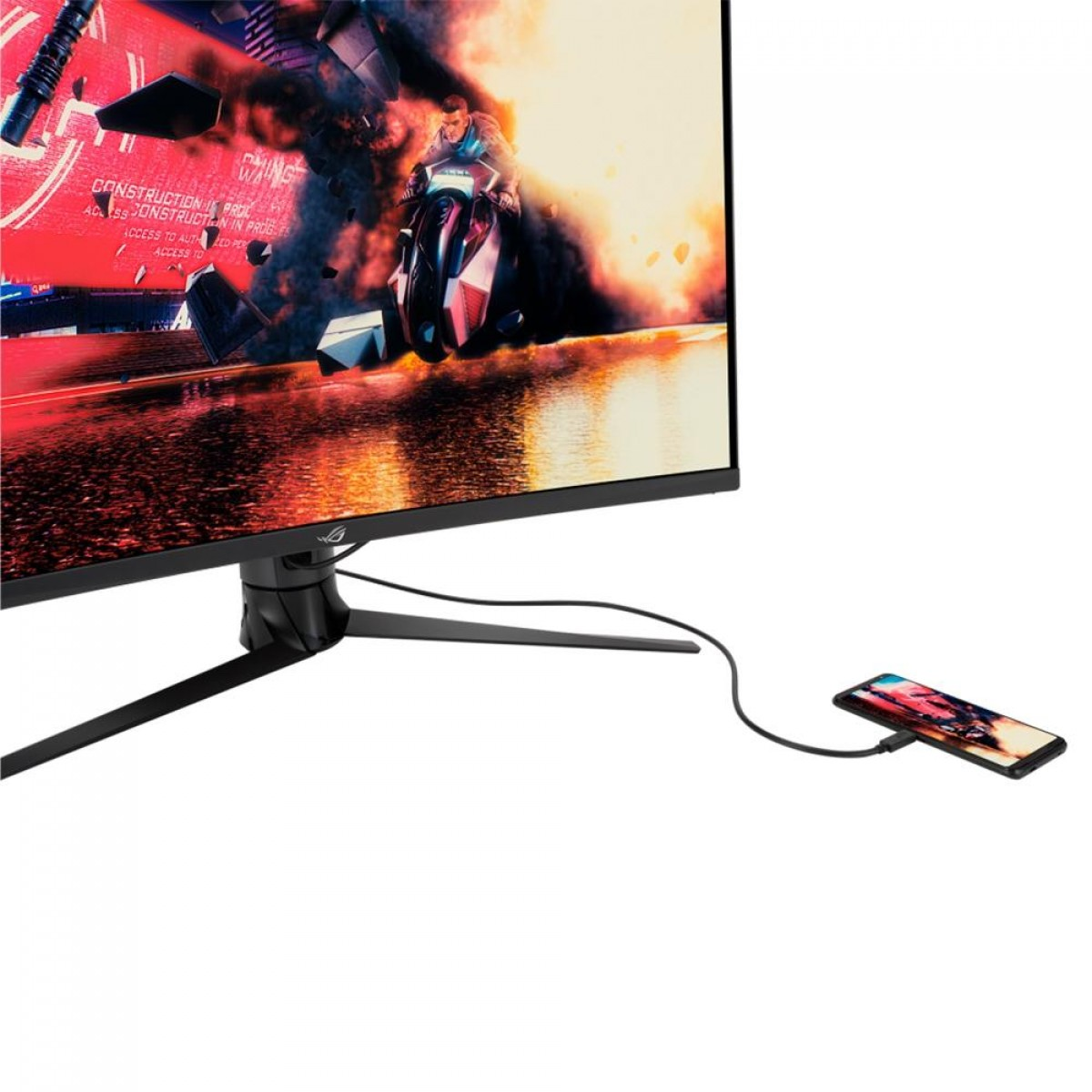 Monitor Gamer Asus ROG Strix XG32VC, 31.5, WHQHD, 1ms, 170Hz, HDR400, Curvo, HDMI, DisplayPort, USB, FreeSync Premium Pro, 90LM03S0-B041B0