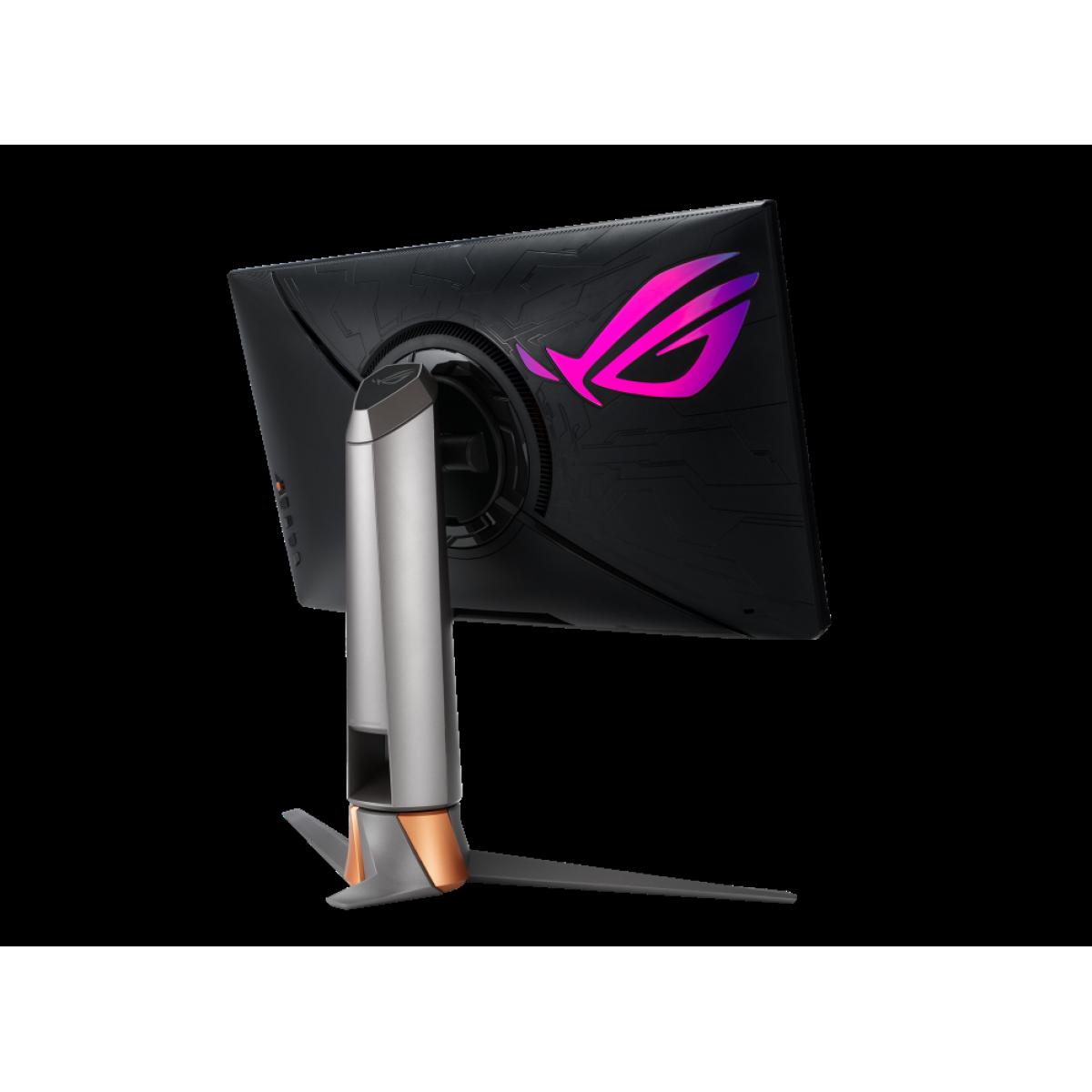 Monitor Gamer ASUS ROG SWIFT, 24.5 Pol, FullHD, 360Hz, 1ms, IPS, GSync, HDR10, Latency Analyzer, 90LM05Q3-B013X0
