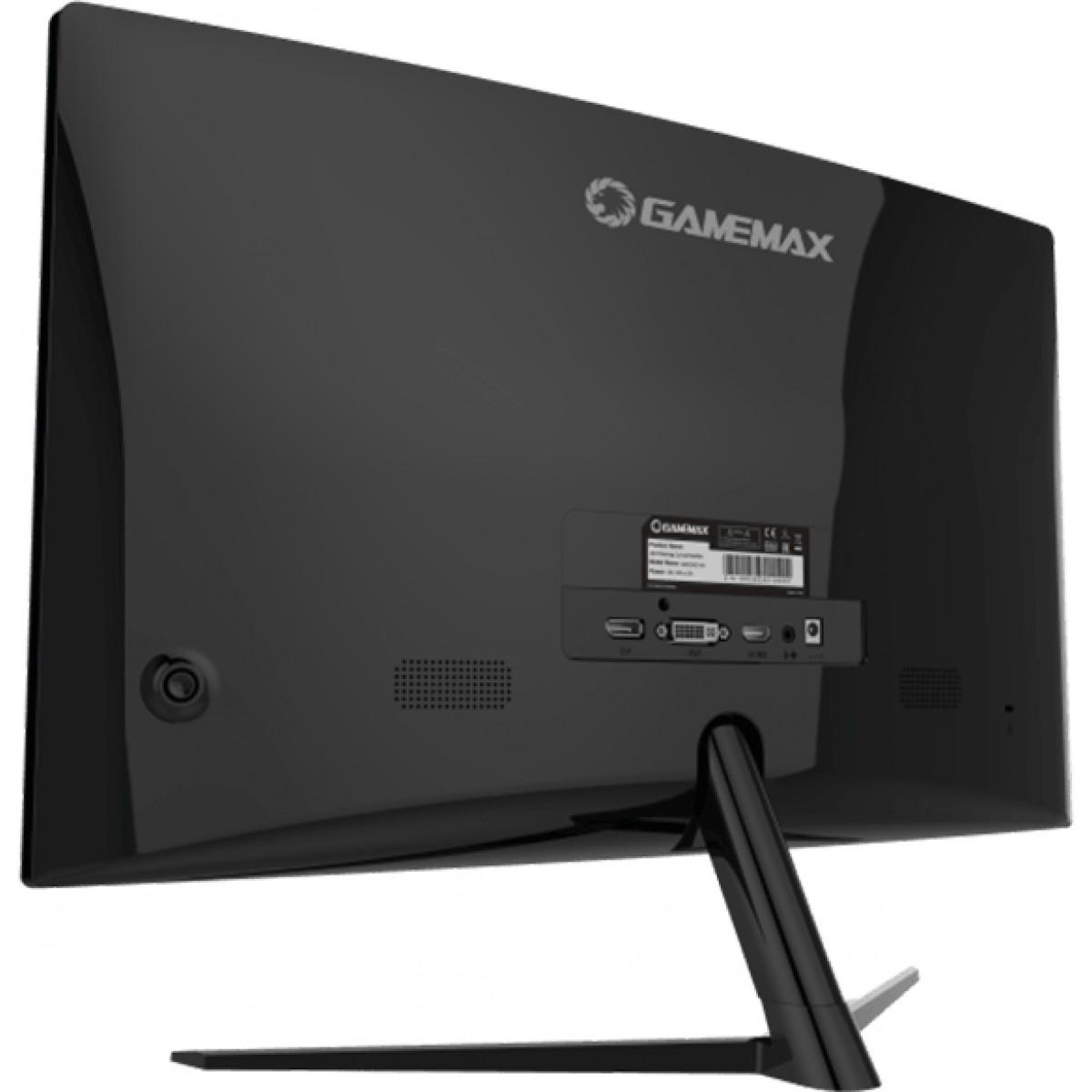 Monitor Gamer GameMax 24 Pol Curvo, Full HD, 144Hz, 1ms, Black, GMX24C144BR