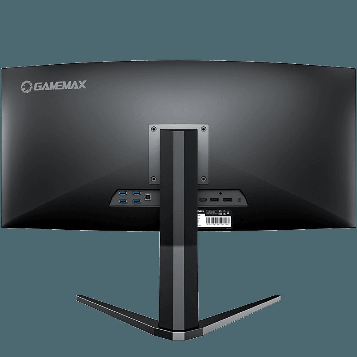 Monitor Gamer GameMax 34 Pol Ultra Wide Curvo, WQHD, 144Hz, 1ms, Black, GMX34CKXQ