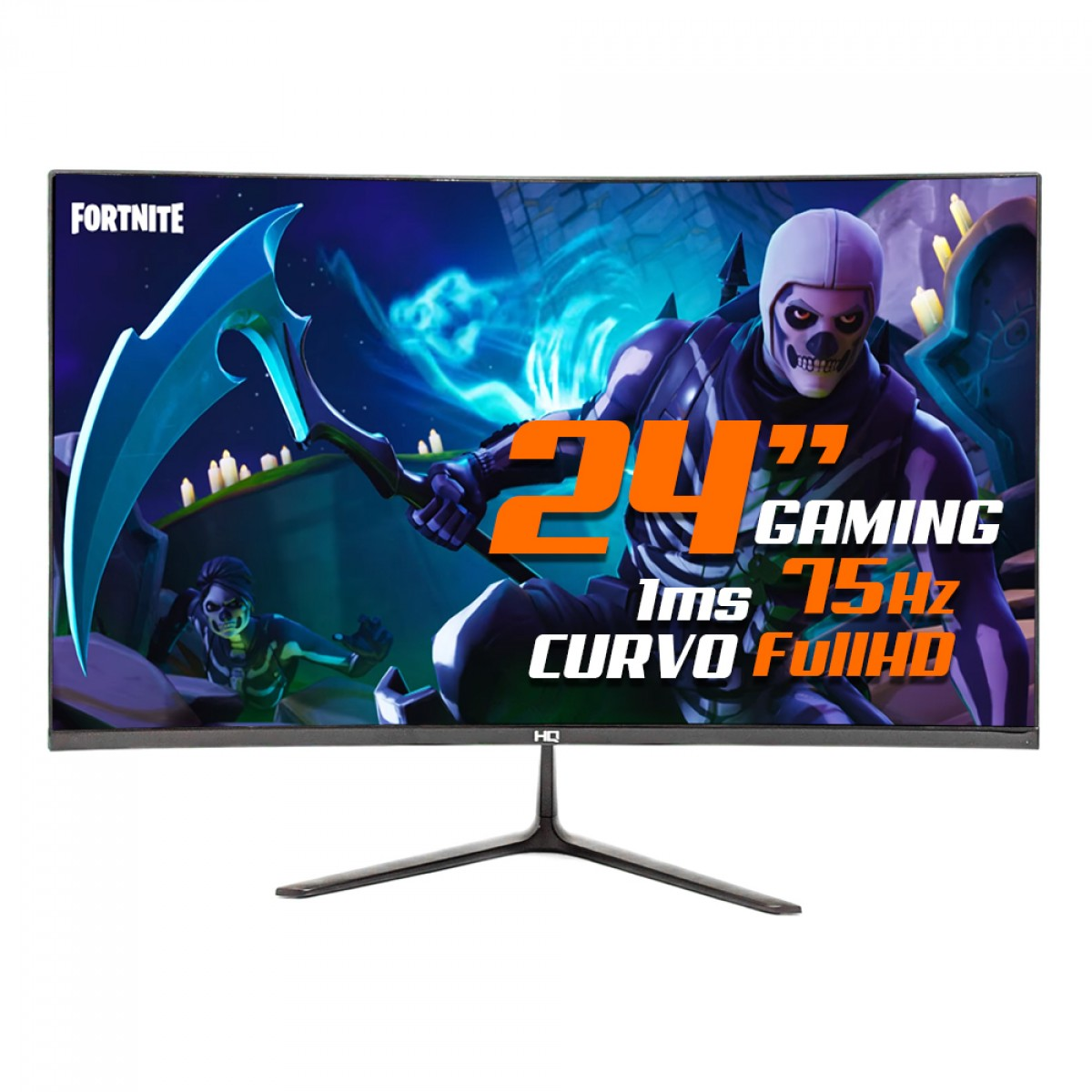 Monitor Gamer HQ 24 Pol, FullHD, 1ms, Curvo, 24HQ CURVO BLACK