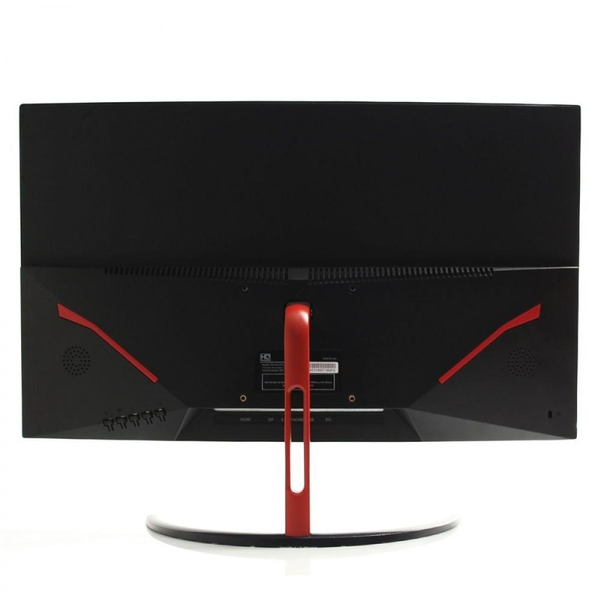 Monitor Gamer HQ Curvo 24 Pol, Full HD, 144Hz, 1ms, Freesync, HDMI, Display Port