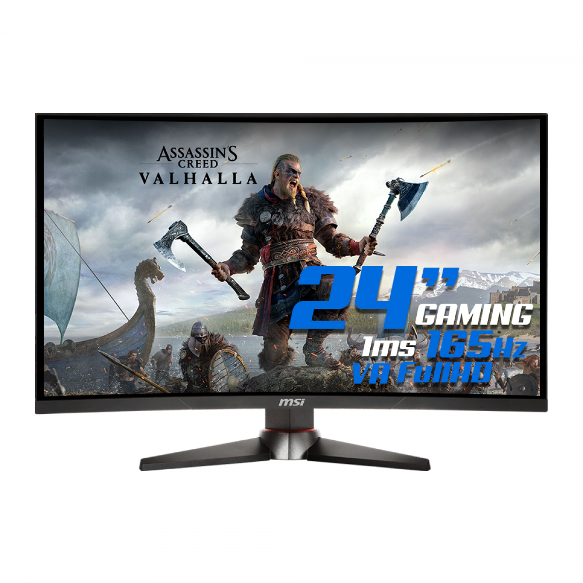 Monitor Gamer MSI Optix, 24 Pol, FullHD, Curvo, 165Hz, 1ms, HDMI/DP, MAG240CR