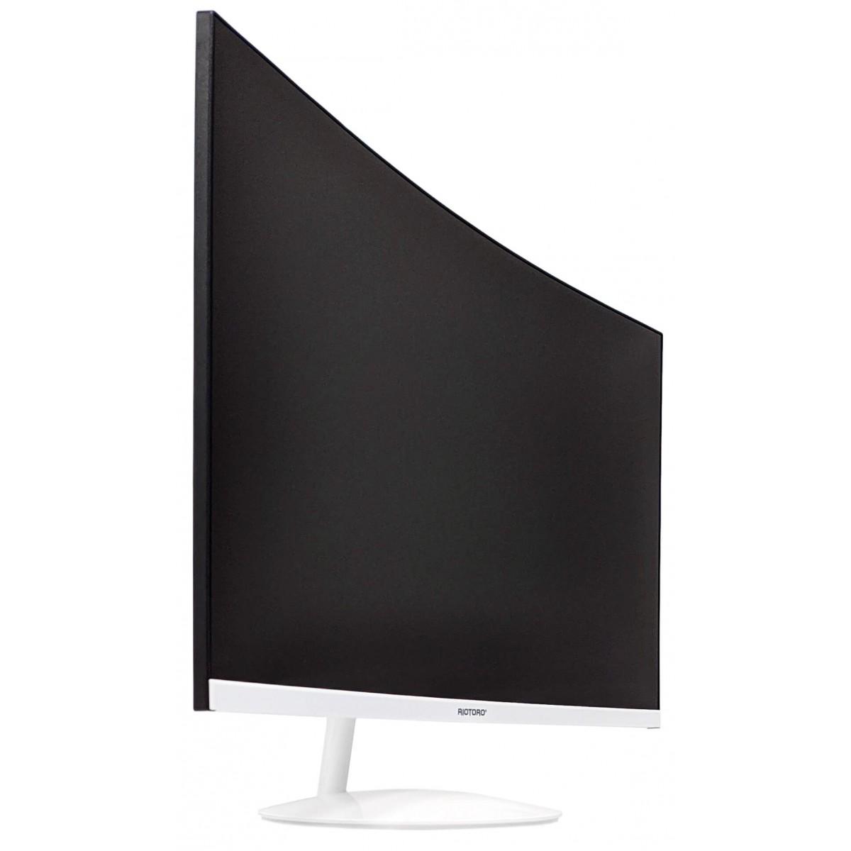 Monitor Gamer Riotoro, Stingray CX27, Curvo, 27 Pol, QHD, HDR, FreeSync, 144HZ, 1ms, DisplayPort, HDMI, White, SR2705C