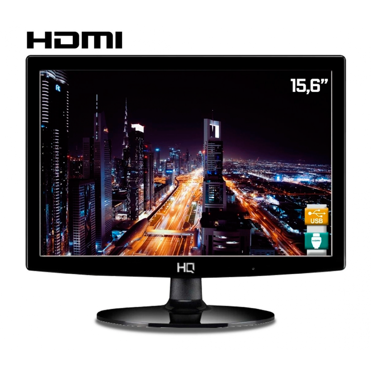 "Monitor HQ 15.6"", LED, HDMI / VGA, 15.6HQ-LED"