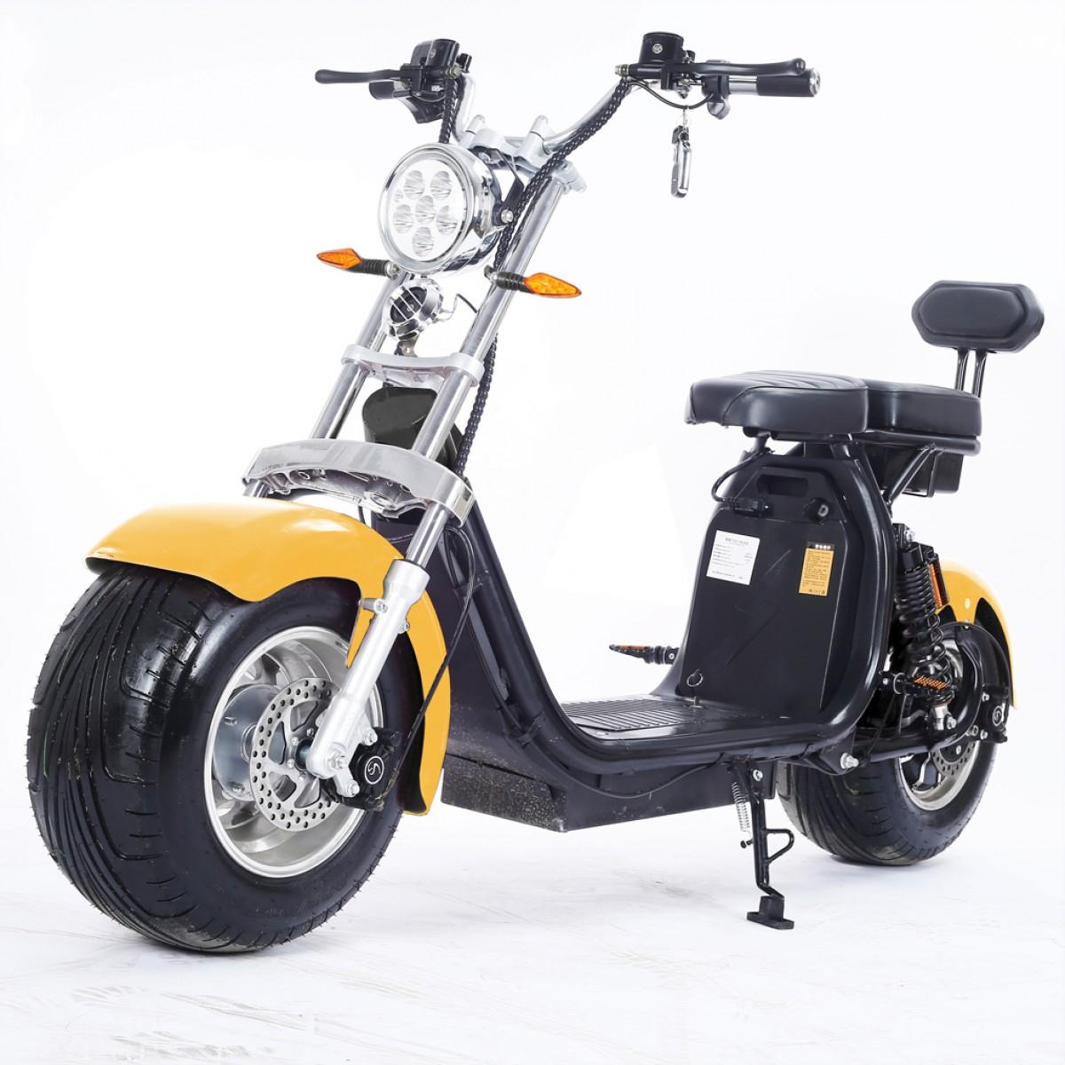 Moto Elétrica RideMode ECO 1500w, Aluminium, Yellow, EM-04-BY