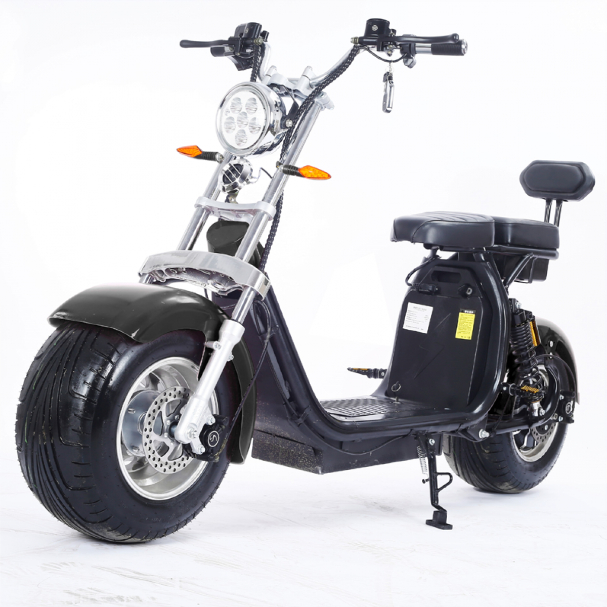 Moto Elétrica RideMode ECO 2000w Aluminium, Black, EM-02-FB