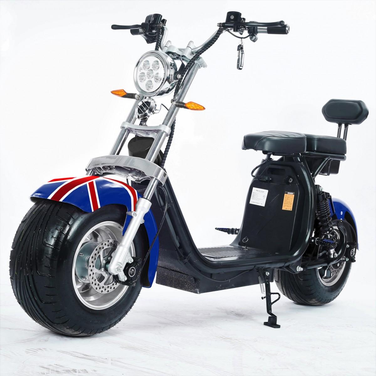 Moto Elétrica RideMode ECO 2000w, Aluminium, UK Flag