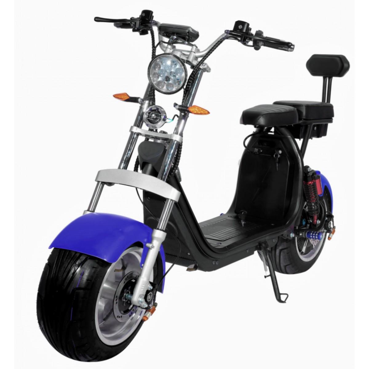 Moto Elétrica RideMode ECO 3000w, Aluminium, Blue, EM-03-BB