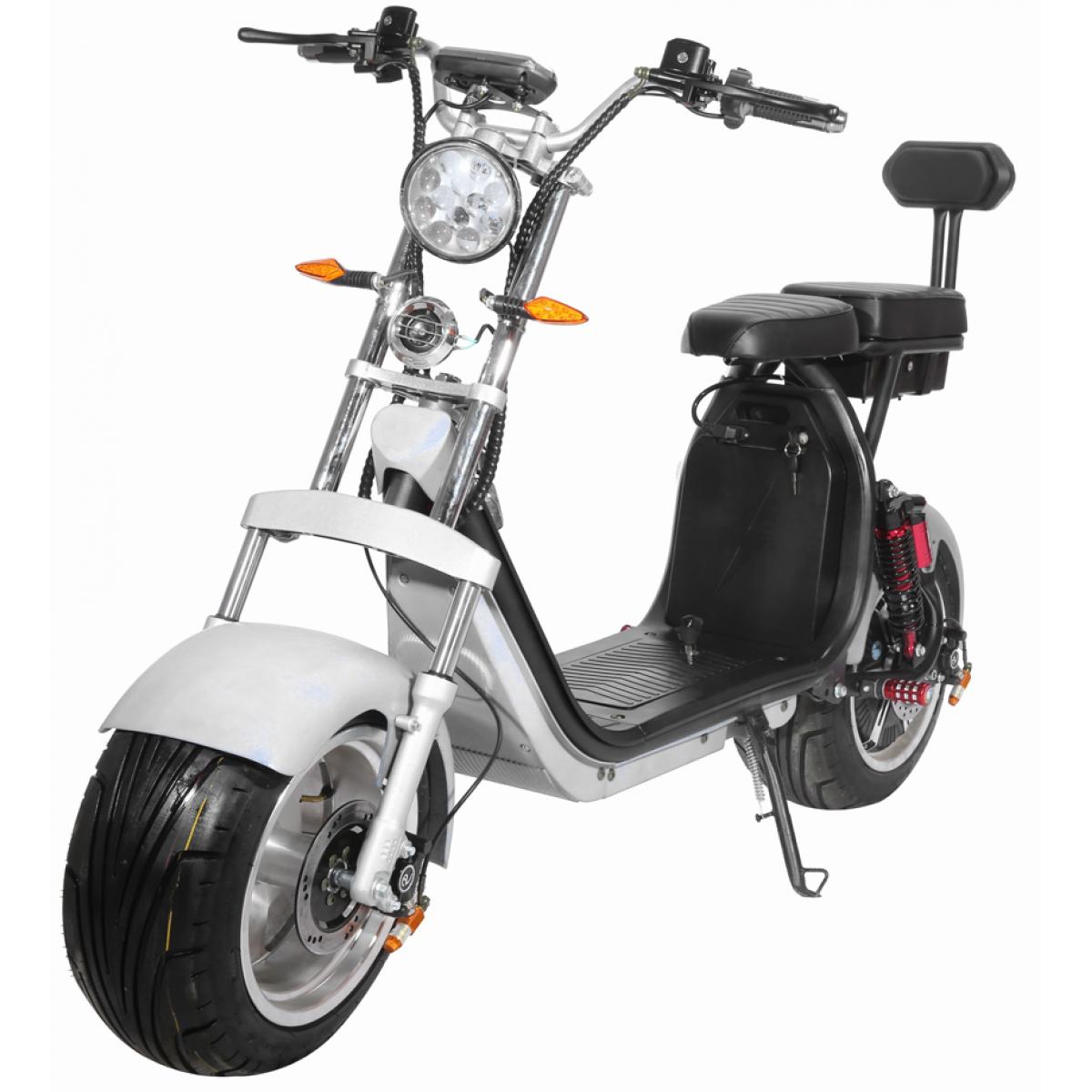 Moto Elétrica RideMode ECO 3000w, Aluminium, White, EM-03-BW