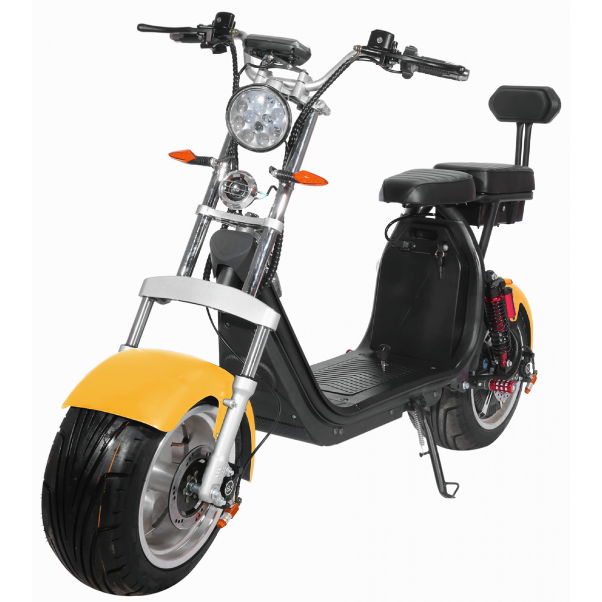 Moto Elétrica RideMode ECO 3000w, Aluminium, Yellow, EM-03-BY