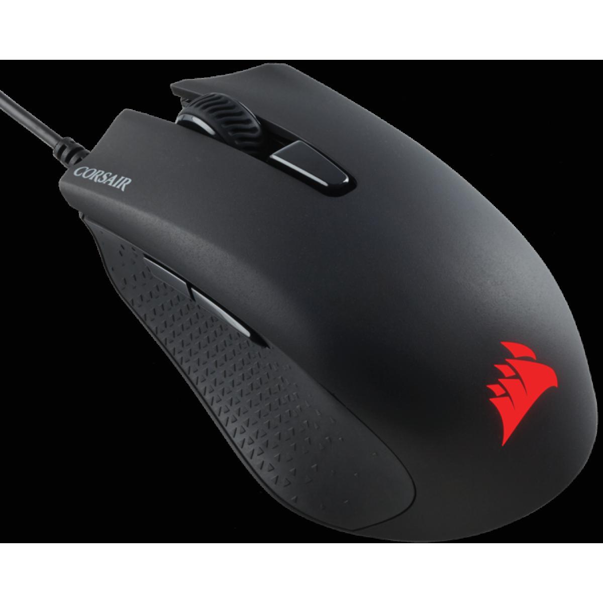 Mouse Corsair Gamer Harpoon CH-9301011-NA RGB 6 Botões 6000 DPI Preto