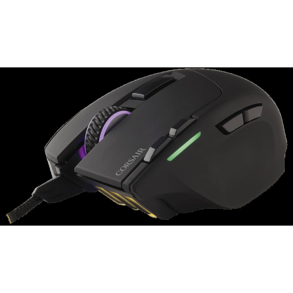 Mouse Corsair Gamer Sabre RGB CH-9303011-NA 8 BOTÕES 10000 DPI