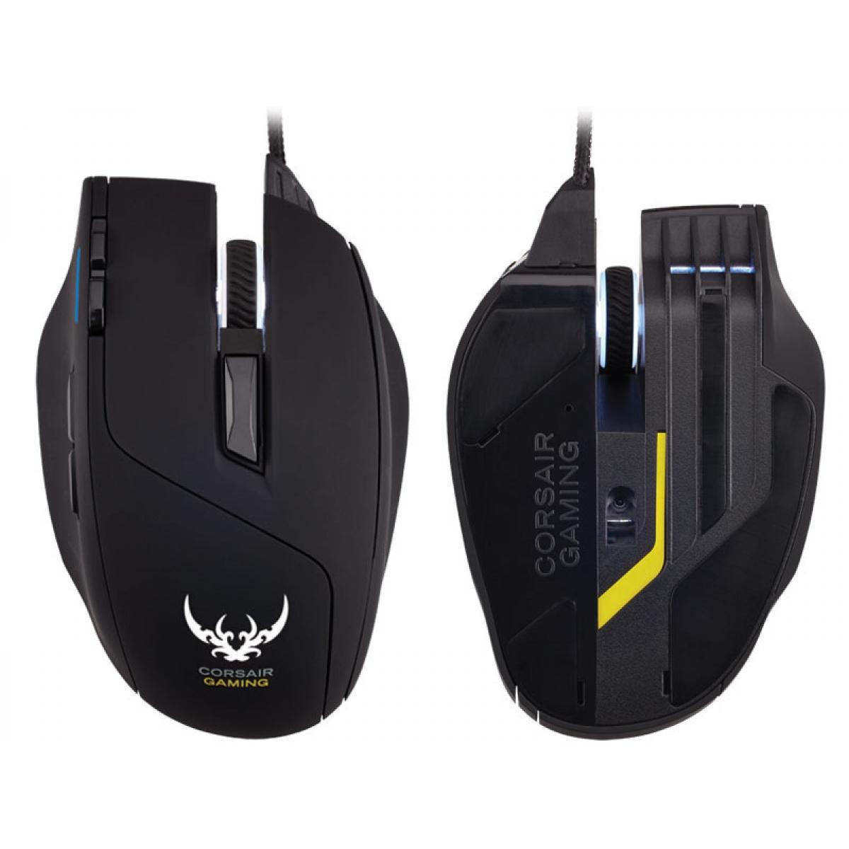 Mouse Corsair Gamer Sabre RGB Led Customizável 8 Botões 8.200 DPI Black