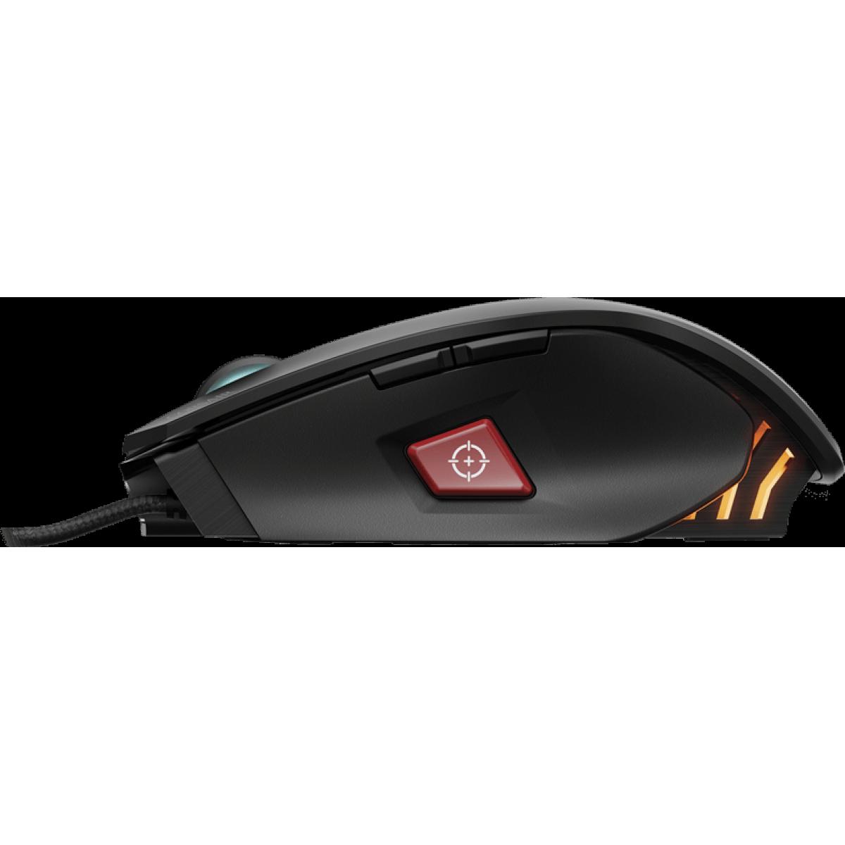 Mouse Corsair Gamer Vengeance M65 PRO RGB CH-9300011-NA 8 Botões 12000 DPI Black
