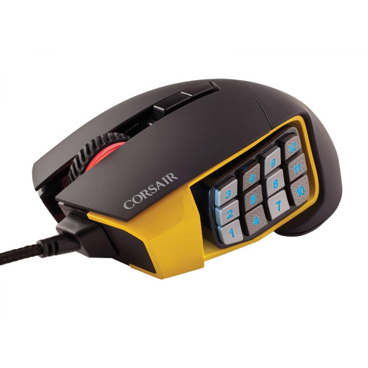 Mouse Corsair Scimitar Rgb 12000 Dpi Black/Yellow Ch-9000091-Na