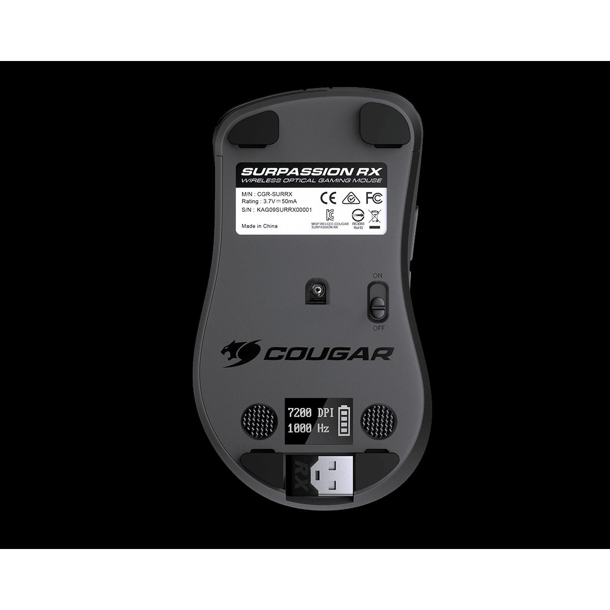 Mouse Cougar Surpassion RX, 7200 DPI, Wireless, Black, 3MSRFWOB.0001