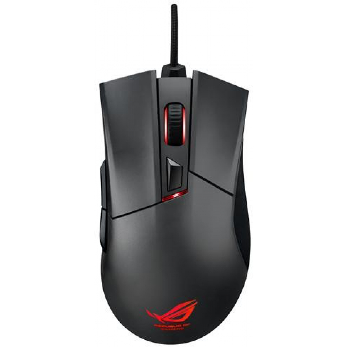 Mouse Gamer Asus Laser Rog Gladius 6400 DPI 2 Botões Programáveis Black